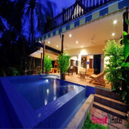 Superb Beach Front Villa with Private Pool & Jacuzzi in a tropical garden.